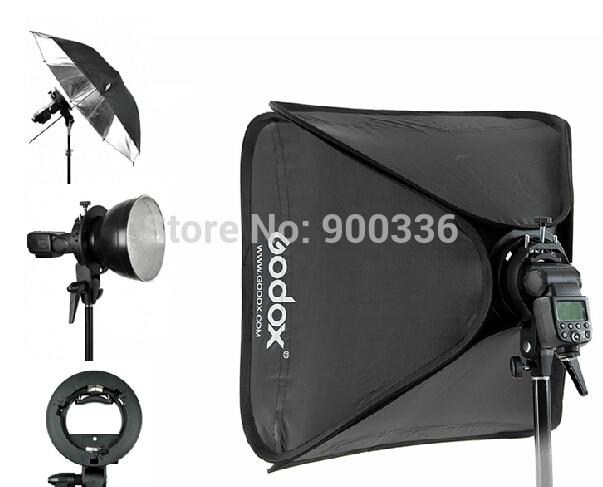 Godox 80x80cm Softbox + S-Type Bracket Bowens Holder+ Bag Kit for Camera Flash 3 d printer accessory createbot single head throttle valve 6 13 13mm top quality free shipping