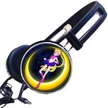 Custom Anime Sailor Moon Crystal Tsukino Usagi Cosplay Headphone Adjustable Sport Headphones Gaming Headset Stereo