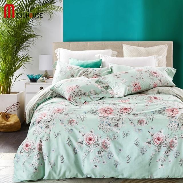 Elegante Blumen Bettwäschesatz Baumwolle Bettwäsche Stellt American