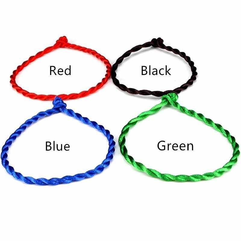 1PC mode rouge fil chaîne Bracelet chanceux rouge vert fait à la main corde Bracelet pour femmes hommes bijoux amoureux Couple