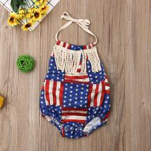 2019 Baby Boys Girl US Flag Printed 4pcs/lot