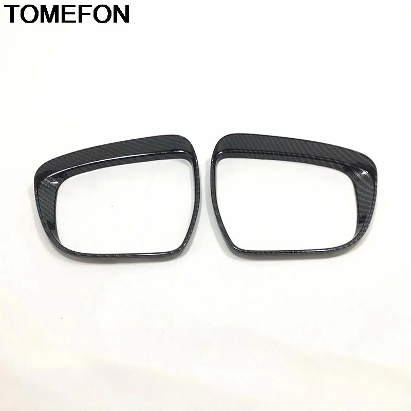 TOMEFON For <font><b>Nissan</b></font> <font><b>Qashqai</b></font> J11 <font><b>2014</b></font> 2015 2016 Rearview Side Mirror Rain Shield Sun Visor Shade Frame Trim <font><b>Accessories</b></font> ABS image