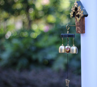 Free Shipping (1 pcs/set)Korean Style Wind Chime Love house Wind Bell Evil Spirit Crafts Home Decoration Doorbell