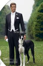 2017 Latest Coat Pant Designs Black Tailcoat Wedding Suit For Men Formal Slim Fit Suits Custom Made Tuxedo 3 Pieces Masculino
