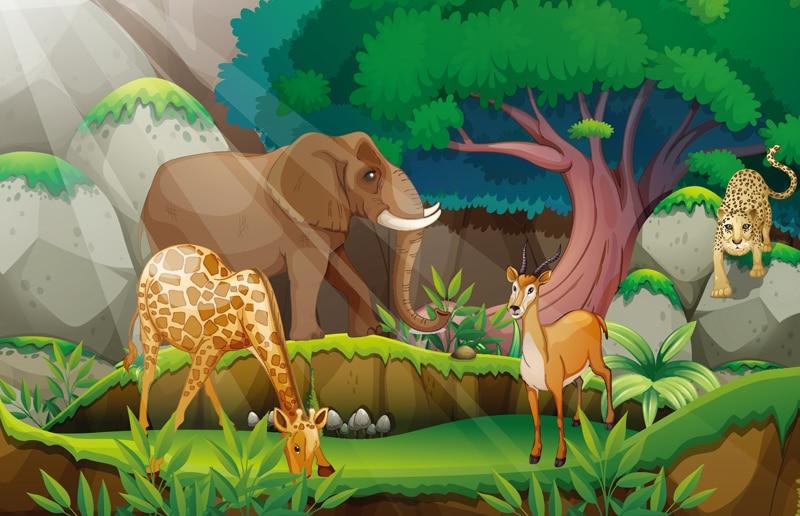 Gambar Animasi Binatang Hutan Bergerak