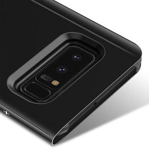 Image 5 - FDCWTS Flip Caso Capa De Couro Para Samsung Galaxy A3 2017 A5 2017 A7 2017 A320F A520F A720F Luxo Visão Clara tampa da Caixa do telefone