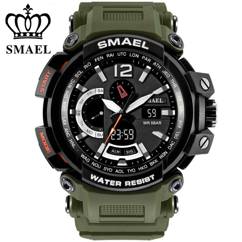 Relogio masculino SMAEL Marque de Sport Montres pour Hommes 5AMT Montre-Bracelet Numérique LED Hommes Militaire Montre Horloge Homme montre homme