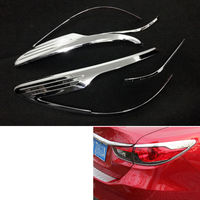4 Pcs New Car ABS Rear Tail Light Lamp Cover Trim Sticker For Fit Mazda 6