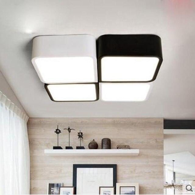 Nordic piazza lampada LED personalità creativa arte camera da letto ...