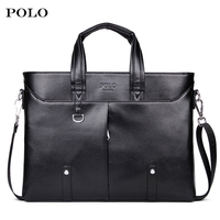 POLO Luxury Brand Men S Business Documents Bag Leather Totes Laptop Bag For Male Fashion Men
