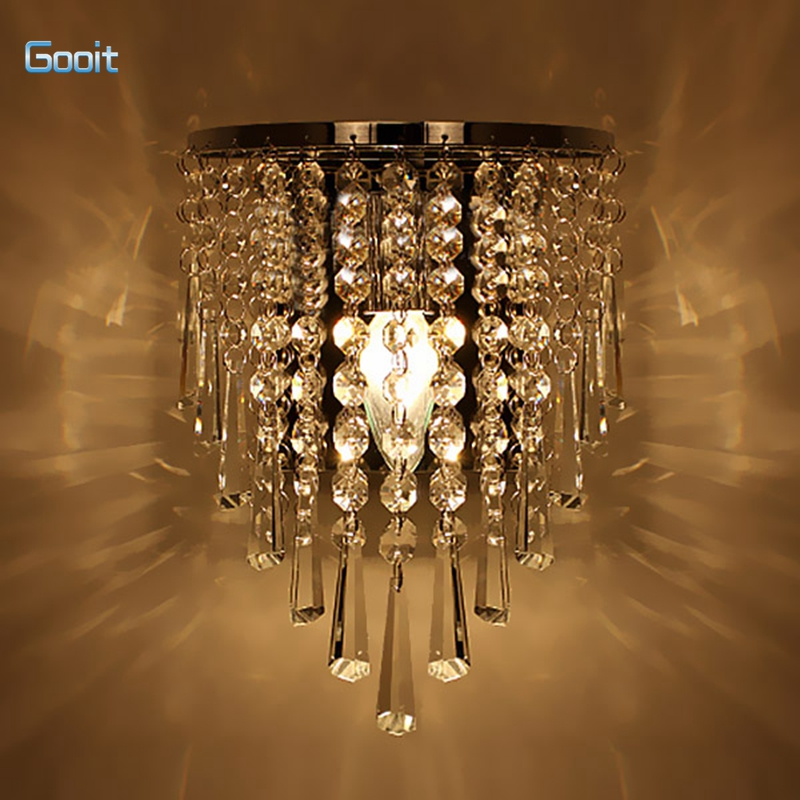 modern crystal chandelier wall light lighting fixture 220v e14 led