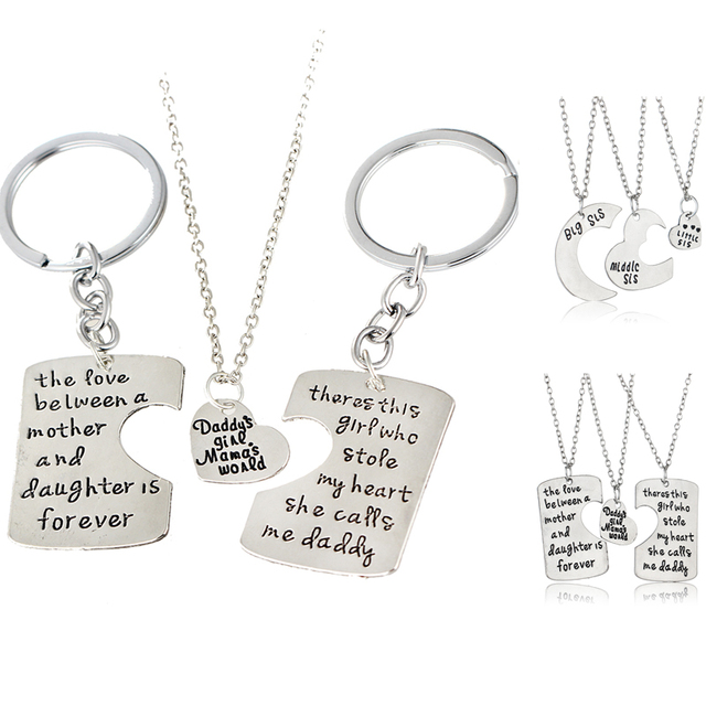 3pcs mother father daughter sister silver pendant necklace family 3pcs mother father daughter sister silver pendant necklace family gifts dad mom mothers fathers day men mozeypictures Choice Image
