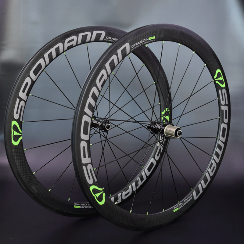 2017 SPOMANN Road Bike Carbon wheelset 50mm Bicycle Carbon Clincher Wheel set High temperature <font><b>rims</b></font> 3 colors bicycle parts image