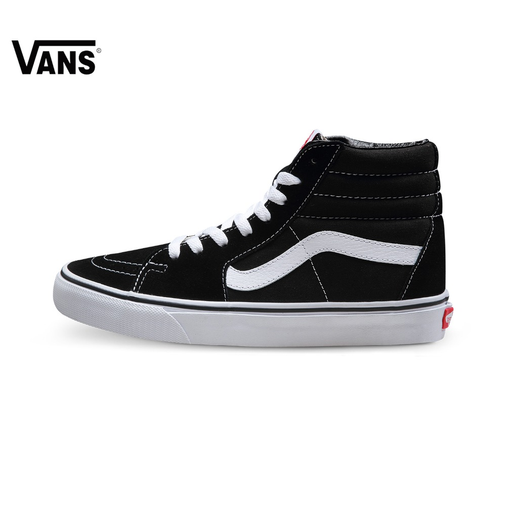 bf2deb745d US $43.03 23% OFF|Original Vans Classic men's & women's High help canvas  shoes Skateboarding Shoes old skool SK8 Hi Sports Vintage Shoes Sneakers-in  ...