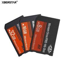 소니 psp 용 xberstar 8 gb 16 gb 32 gb 메모리 카드 모든 버전 메모리 스틱 MS pro duo 스틱 카드