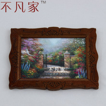 Doll house dollhouse miniature furniture mural