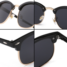 Half Metal High Quality Sunglasses  Brand Designer Glasses Mirror Sun Glasses
