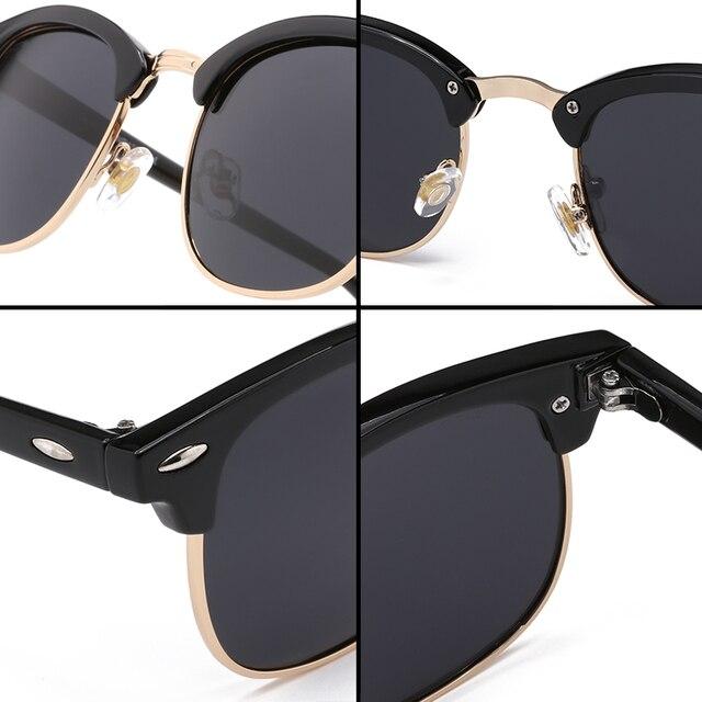 Half Metal High Quality Sunglasses Men Women Brand Designer Glasses Mirror Sun Glasses Fashion Gafas Oculos De Sol UV400 Classic