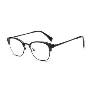 Image 2 - Browlineフルリム光学眼鏡フレーム用男性と女性黒とヒョウ眼鏡