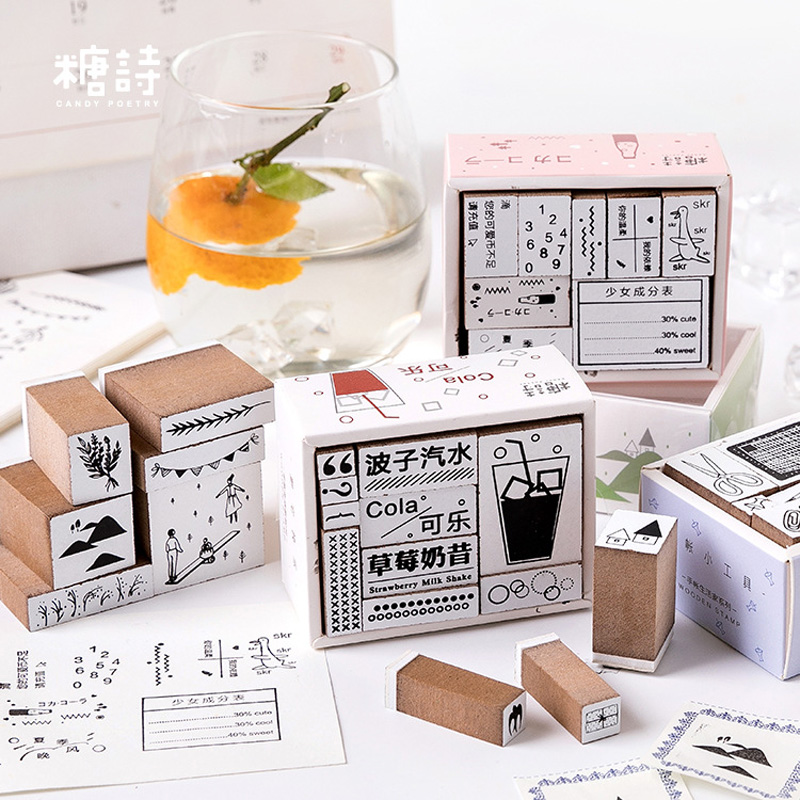 Hand Account Life Home Series Wood Stamp DIY Craft Wooden Rubber Stamps For Scrapbooking Stationery Scrapbooking Standard Stamp