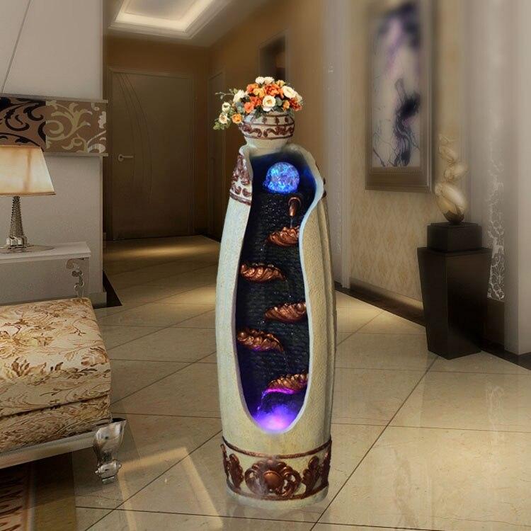 Creatieve Decoratie Ideeen.Europese Creatieve Woonkamer Vloer Fontein Water Feature Feng Shui