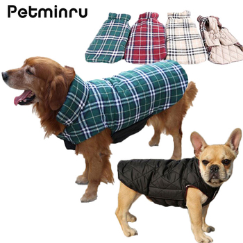 Petminru Waterproof Plaid Small to Large Dog Clothes Jacket Warm Autumn Winter Dog Coats Double use Pet Clothes burberry phone case iphone x