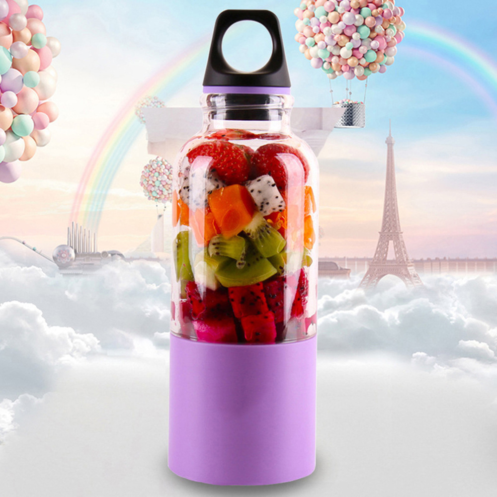 500ML USB Charging Electric Portable Juicer Cup Automatic Mini Fruit Juicer Kitchen Tools Fruit Vegetable Juice Bottle 2016 new design 500ml portable fruit juicer