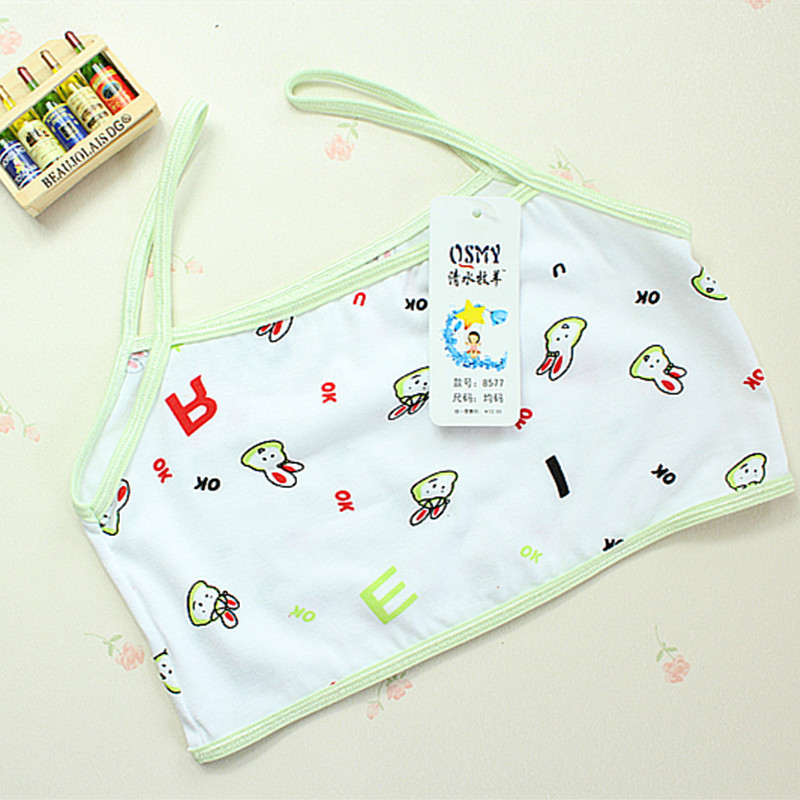 Soft Cotton Student Bra Underwear Development Kids Training Young Girls Character - AiliQi Baby Clothing store