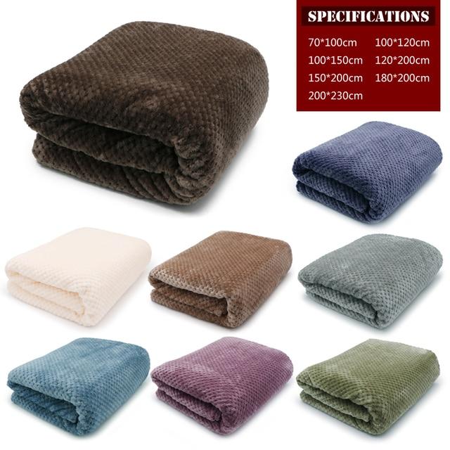 Ультрамягкое одеяло, фланелевое одеяло для дивана, для использования в офисе, детское одеяло, полотенце для путешествий, флисовая сетка, переносное одеяло для путешествий в автомобиле