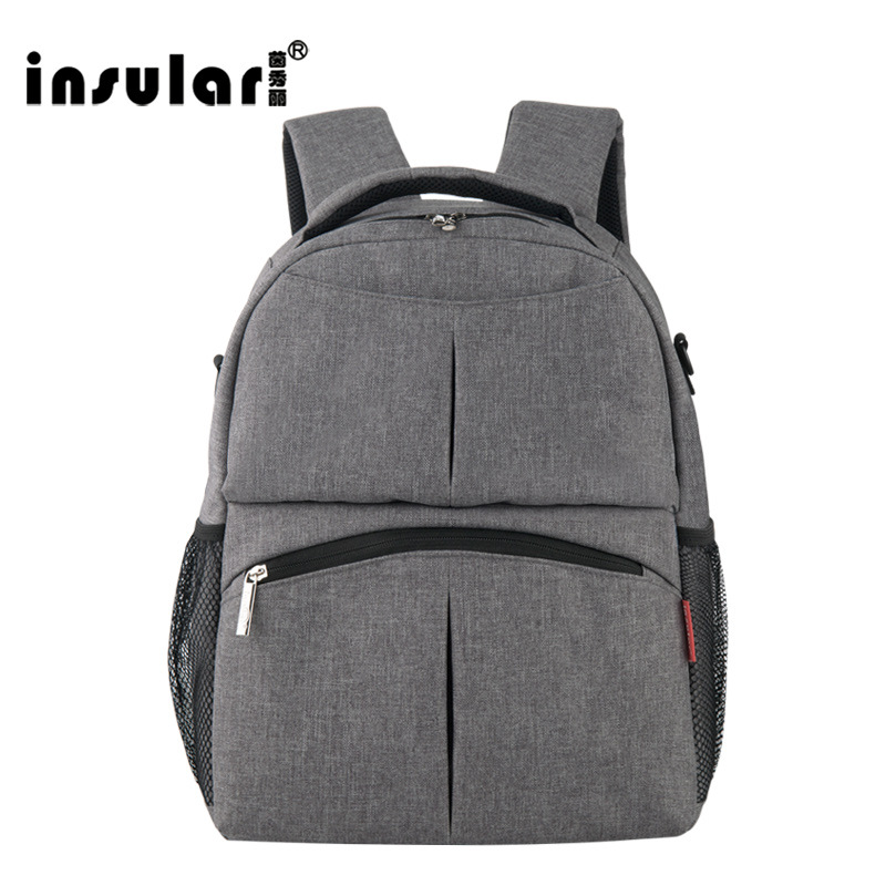2017 NEW INSULAR Mother Bag Baby Nappy Bags Large Capacity Maternity Mummy Diaper Backpack Stroller bag 10016 2016 new arrival mummy bags waterproof nappy bags large capacity baby diaper bag multifunction mother shoulder bags handbags