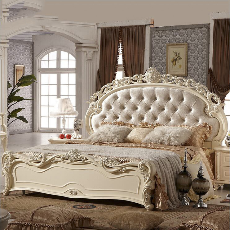 modern european solid wood bed Fashion Carved  leather  french bedroom furniture pfy10151modern european solid wood bed Fashion Carved  leather  french bedroom furniture pfy10151