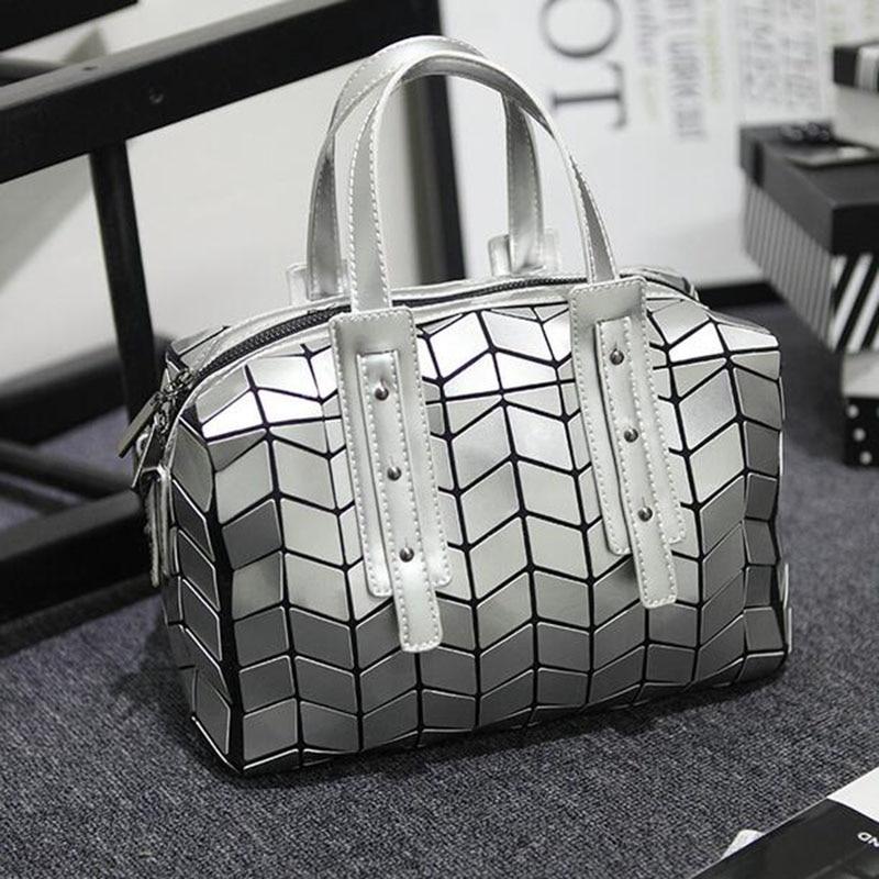2017 Women Leather Shoulder Bags Luxury brand design Laser lattice Zipper Woman