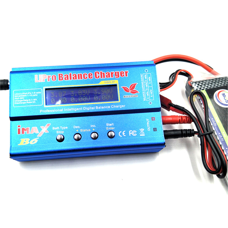 BUILD-POWER IMAX B6 RC Lipo Nimh Digital Balance Charger con Spina T o Tamiya Connettore Calbe