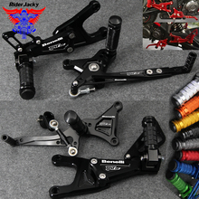 CNC Aluminum Motorcycle Front Rear Foot Pegs Rest Pedal Footrest Rearset Accessories For Benelli TNT135 TNT 135 2016-2018 2017