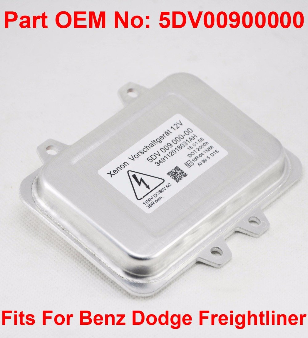 1x 12V 35W D1S D1R D3S D3R OEM HID Xenon Headlight Ballast Control Unit Part Number 5DV00900000 Fits For Benz Dodge Freightliner