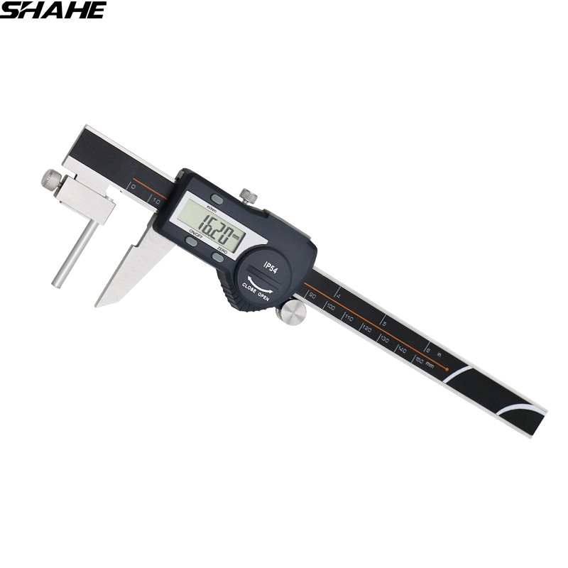 Electronic tube thickness digital caliper 0-150 mm digital vernier caliper paquimetro digital caliper micrometer digital gauge 0 300 mm digital tube thickness caliper measure ruler lcd digital electronic caliper micrometer measuring tools