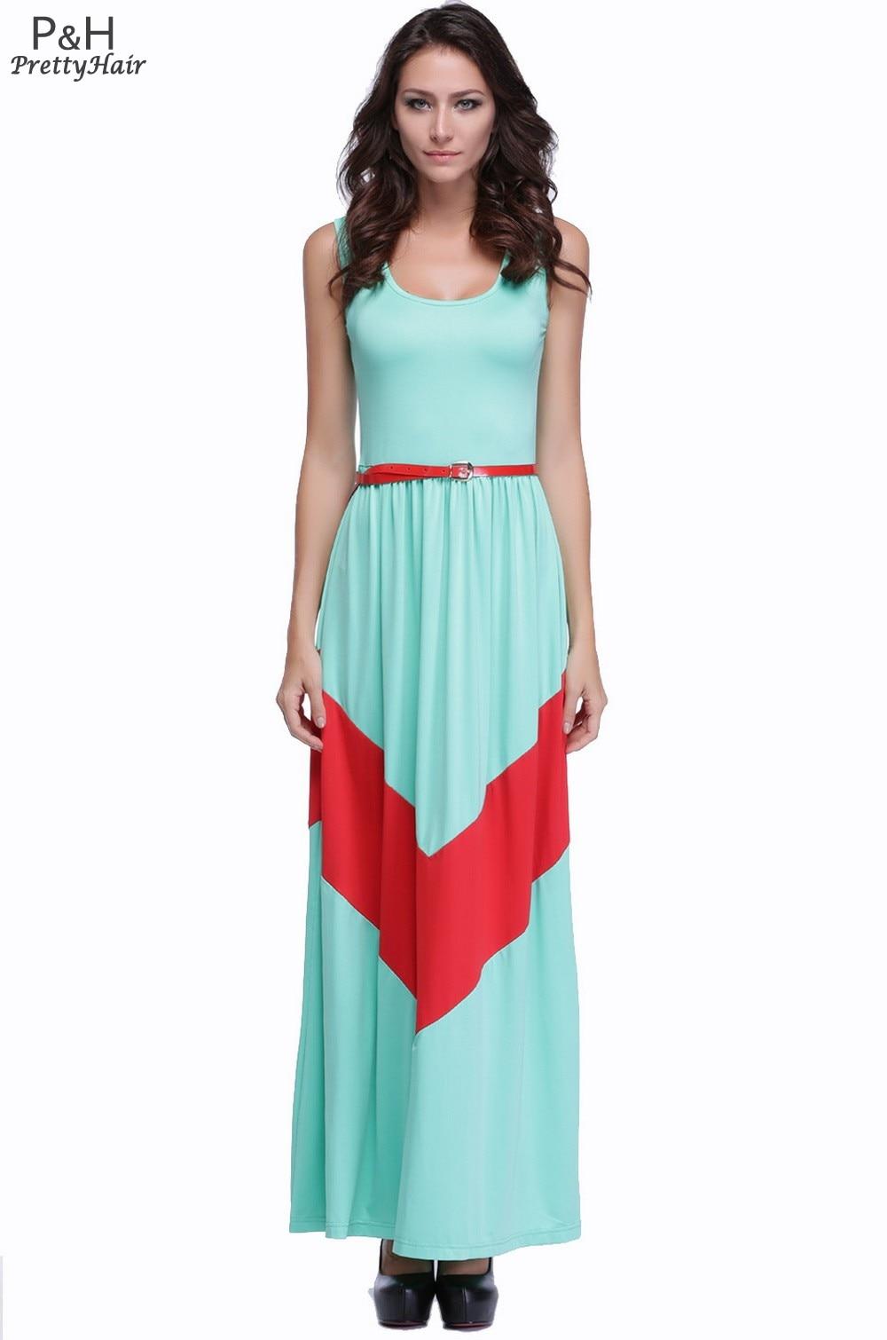 Free Shipping 2014 New Women Summer Long Dress Maxi Casual ...
