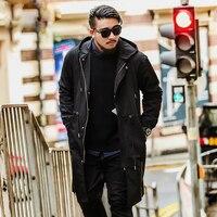 Large size Men's Park jacket Autumn and Winter Long Windbreaker large size Shirt Hooded coat More Size XXL 5XL 6XL 7XL
