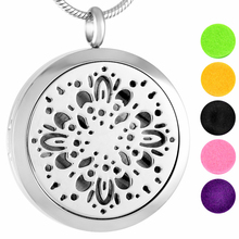 MJP0013 316L Stainless Steel Fireworks Perfume Locket, Essential Oil Diffuser Necklace Memorial Jewelry