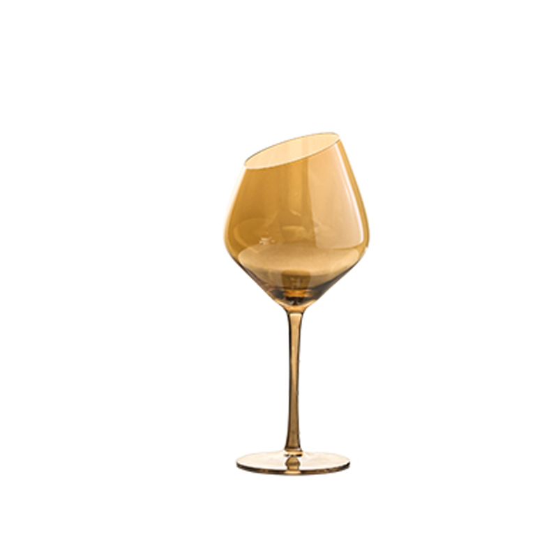 Creative Crystal Glass Champagne Flutes Electroplated Amber smoke gray wine glass Household goblet wedding Wine Glasses