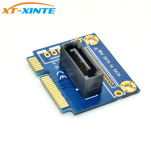 "Image 4 - Carte de convertisseur mSATA vers SATA adaptateur dextension Mini SATA vers 7Pin SATA PCI e demi taille pour disque dur SSD 2.5 ""3.5"""