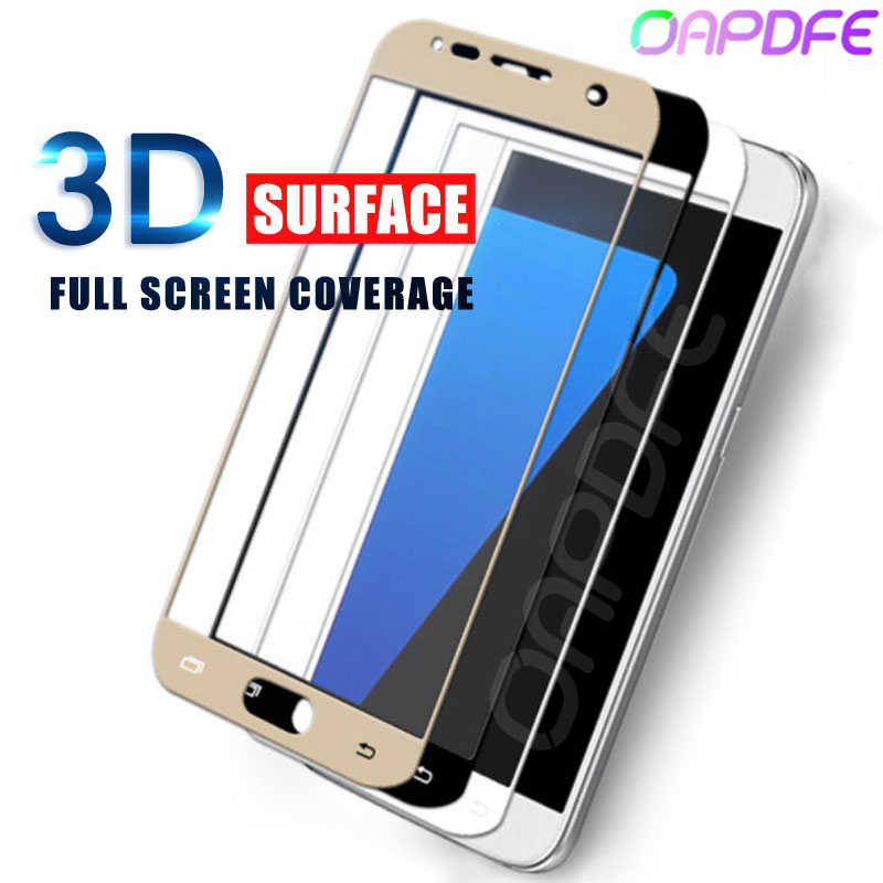 3D Full Cover Tempered Glass For SAMSUNG Galaxy S6 S7 Screen Protector on the for samsung S7 S6 edge Toughened Protective Film