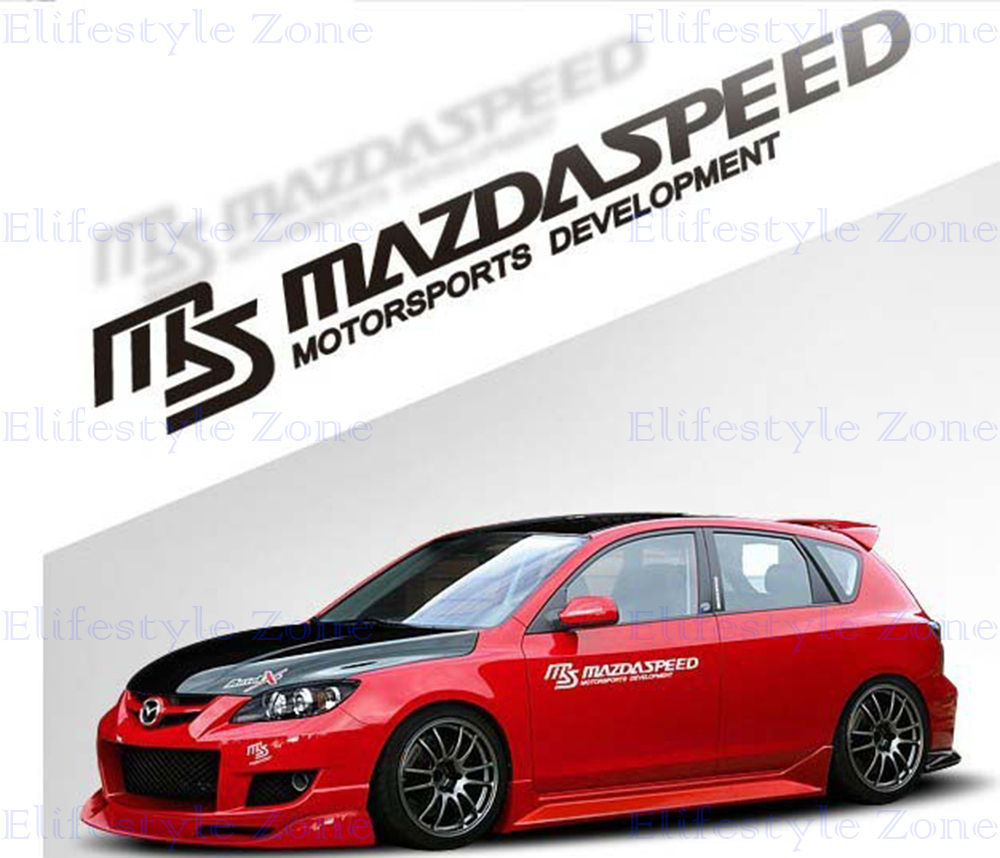 Car sticker design jb - 2 X Ms Mazdaspeed Motorsports Car Stickers Car Whole Body Reflective Decal For Mazda 2 Mazda