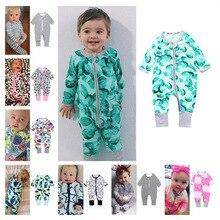 Лидер продаж; Весенний однотонный хлопковый комбинезон для новорожденных мальчиков и девочек; Одежда для мальчиков; комбинезон с косой молнией для младенцев; одежда для малышей в стиле унисекс