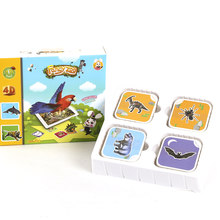 68Pcs Magic 4D Flashcards AR Animals Early Childhood Memory Matching Learning Toys Educational Game Cards 13 Switchable Language(China)