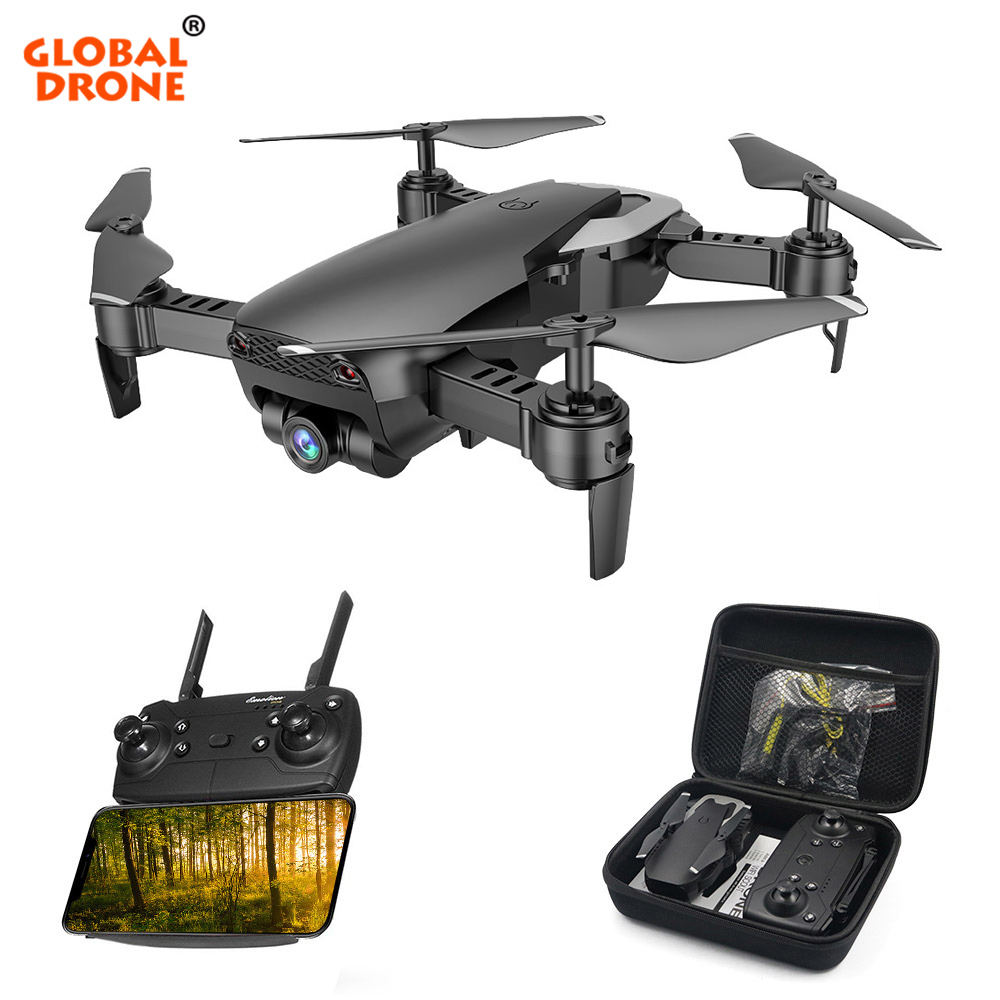 купить Global Drone Foldable RC Drones with Camera HD Wide Angle Mini Quadcopter High Hold Helicopter Quadrocopter Dron VS E511 XS809HW онлайн