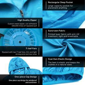 Image 5 - Куртка для кондиционирования воздуха водонепроницаемая одежда для защиты от УФ USB охлаждающая вентиляторная куртка для улицы с высокой температурой