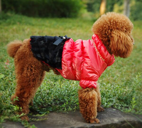 1pcs dogs cats lovely bowknot jackets apparel doggy warm soft coats clothes puppy outwear clothing pet dog cat suit XS-XXL