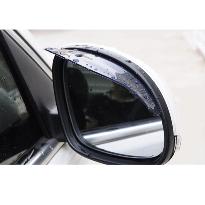 Universal 2pcs/pair Car rearview mirror rain Eyebrow Visor Shade Shield Water Guard For Car Truck thickened automotive supplies