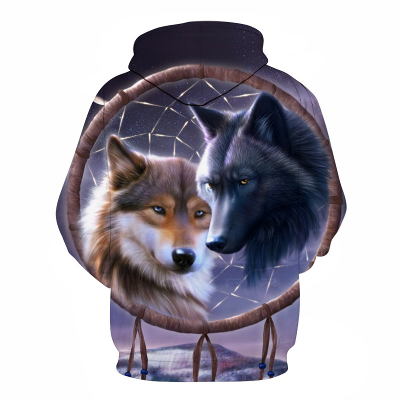 Wolf Printed Hoodies Men 3d Hoodies Brand Sweatshirts Boy Jackets Quality Pullover Fashion Tracksuits Animal Streetwear Out Coat 23